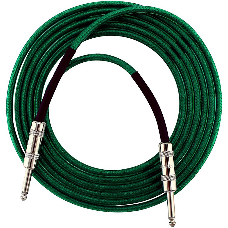 Livewire Soundhose Instrument Cable Green 20 ft.