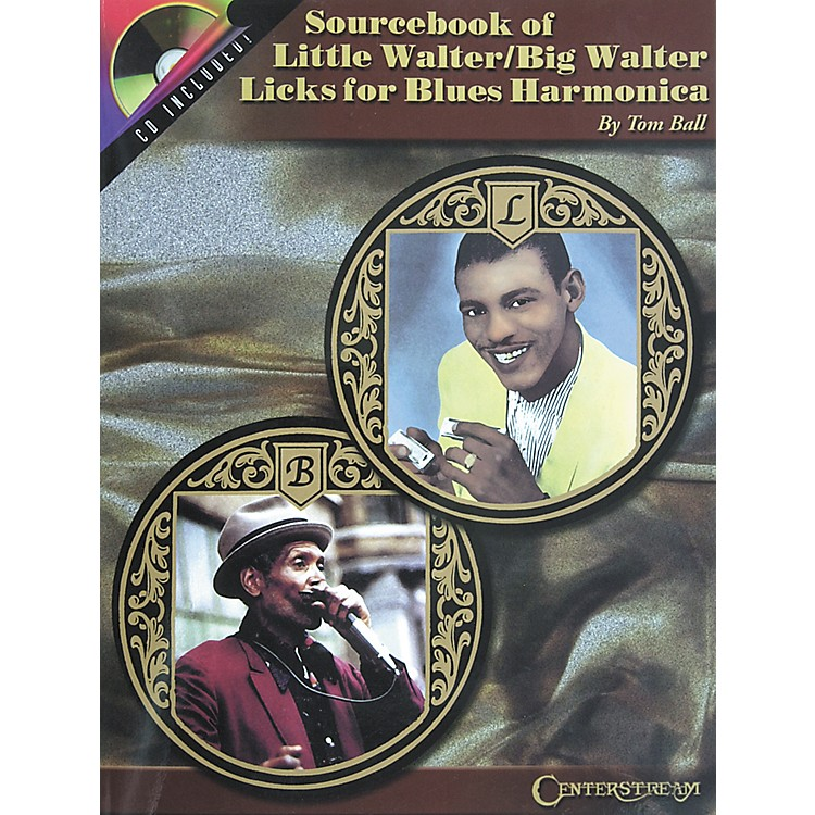 Centerstream PublishingSourcebook of Little Walter/Big Walter Licks for Blues Harmonica Book with CD