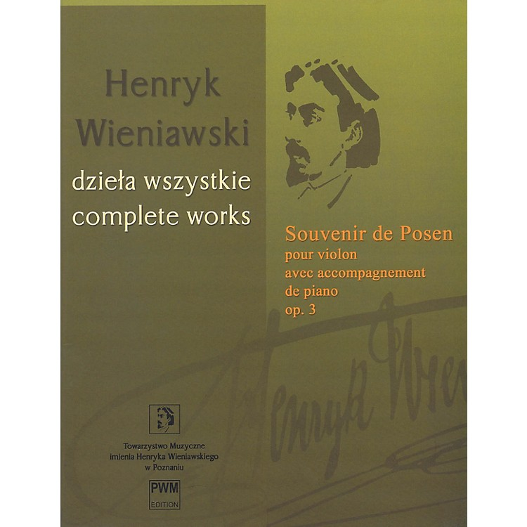 PWM Souvenir de Posen Op. 3 PWM Series Softcover Composed by Henryk Wieniawski