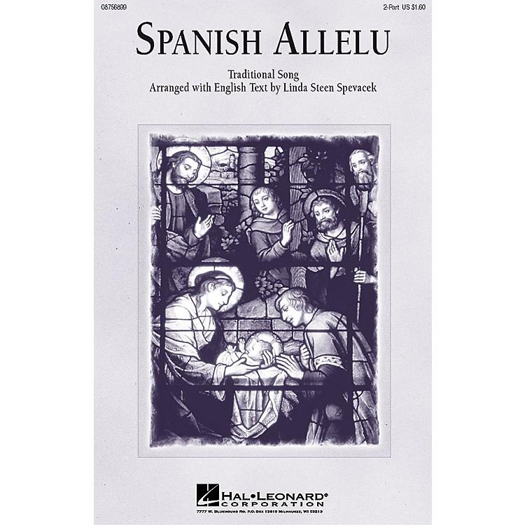 Hal LeonardSpanish Allelu 2-Part arranged by Linda Spevacek