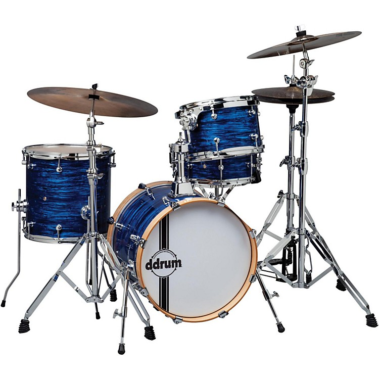Ddrum Speak Easy Flyer Compact 4-Piece Shell Pack Blue Pearl
