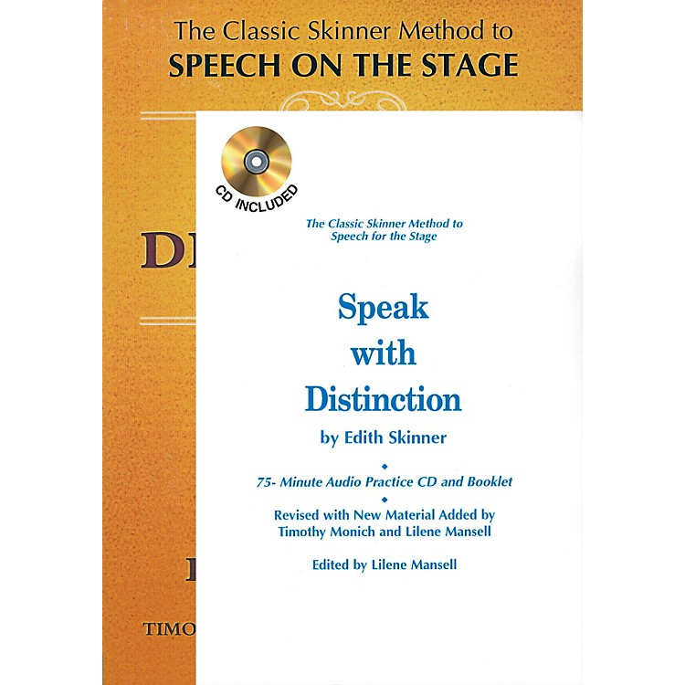 Applause BooksSpeak with Distinction (Book/CD/Booklet Package) Applause Acting Series Series Written by Edith Skinner