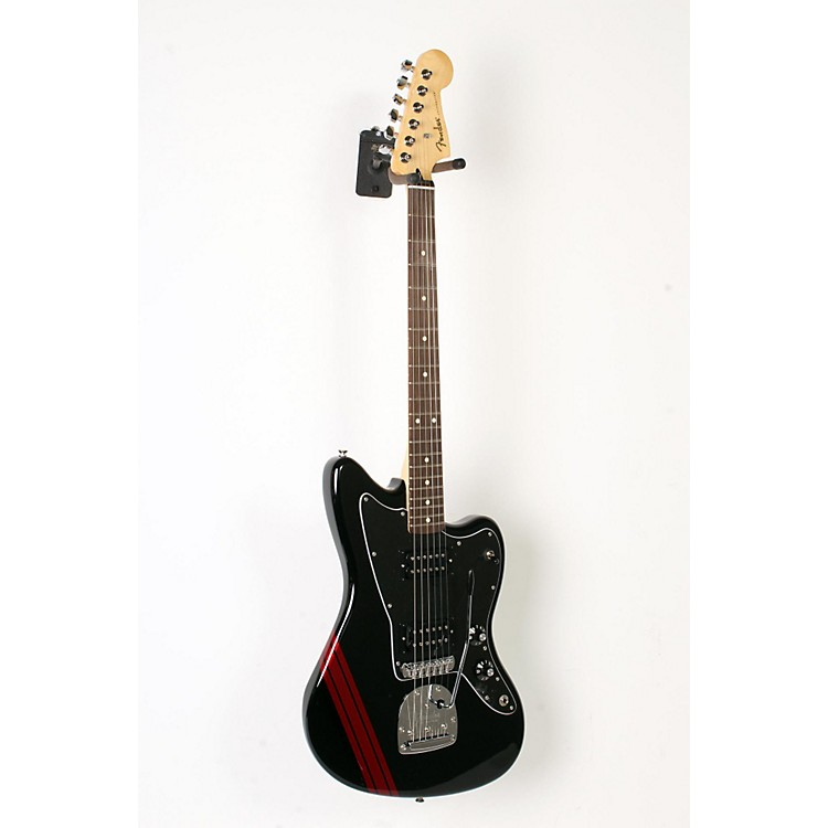 Fender Special Edition Blacktop HH Jazzmaster Electric Guitar Black with Stripe 888365908687