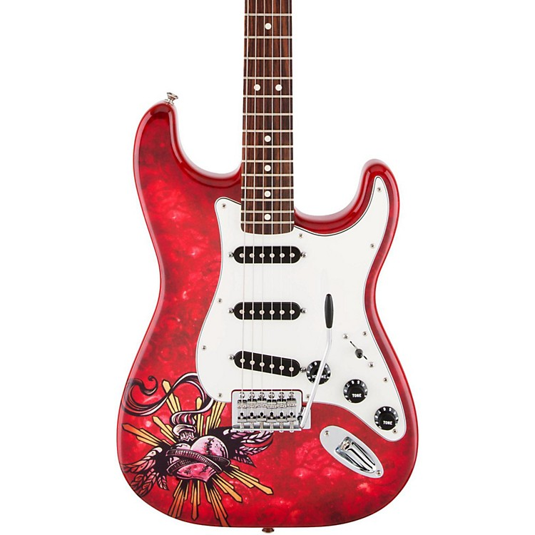 FenderSpecial Edition David Lozeau Art Rosewood Fingerboard Stratocaster Electric GuitarSacred Heart