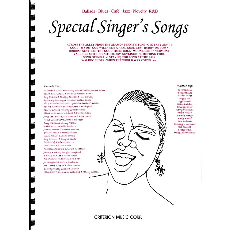 Criterion Special Singer's Songs (Ballads · Blues · Café · Jazz · Novelty · R&B) Criterion Series