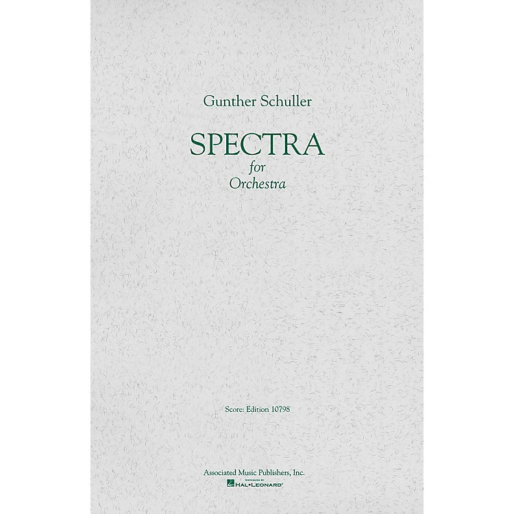 AssociatedSpectra (1958) (Full Score) Study Score Series Composed by Gunther Schuller