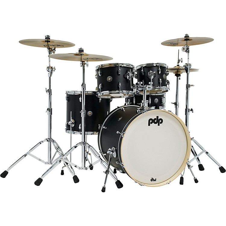 PDP by DWSpectrum Series 5-Piece Shell Pack with 22 in. Bass DrumEbony Stain