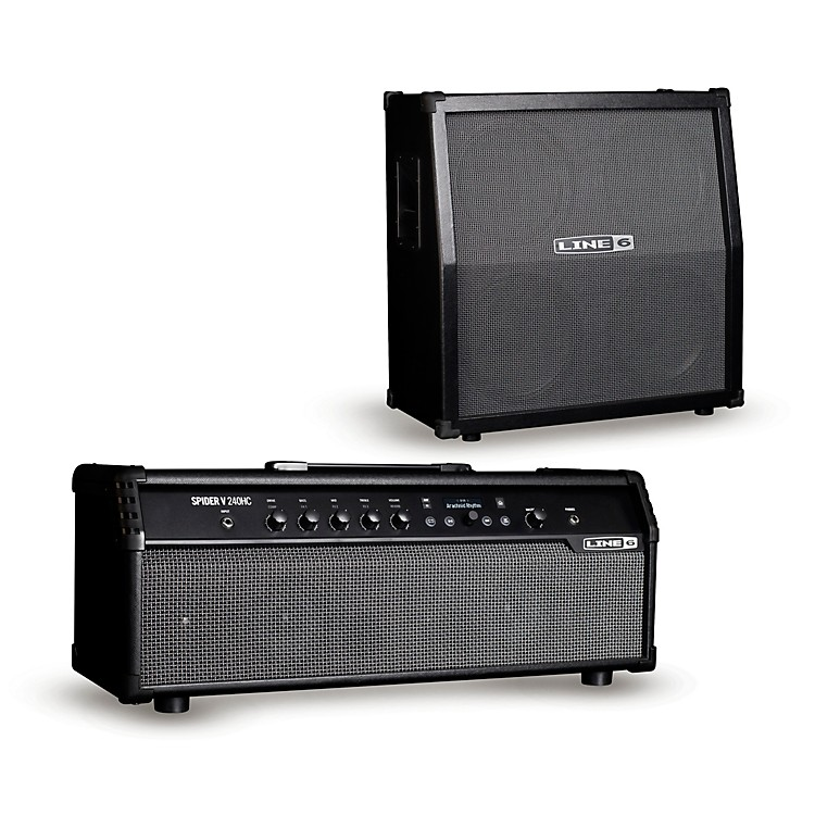 Line 6 Spider V 240HC 240W Head and 412 320W 4x12 Guitar Speaker Cabinet