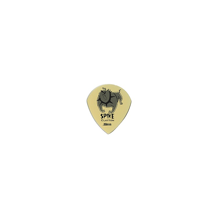 Clayton Spike Ultem Gold Sharp Teardrop Guitar Picks 1 Dozen  .80 mm