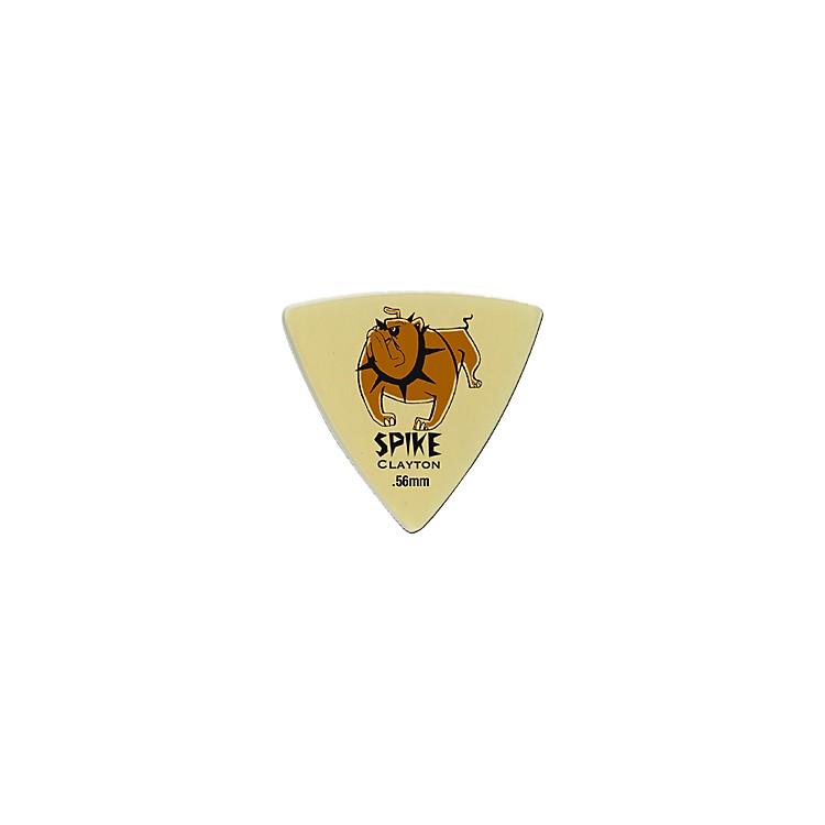 ClaytonSpike Ultem Gold Sharp Triangle Guitar Picks 1 Dozen.80 mm