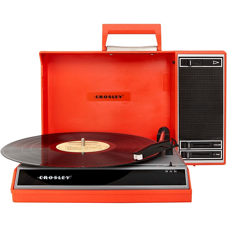 Crosley Spinnerette Portable 3-Speed Turntable Red