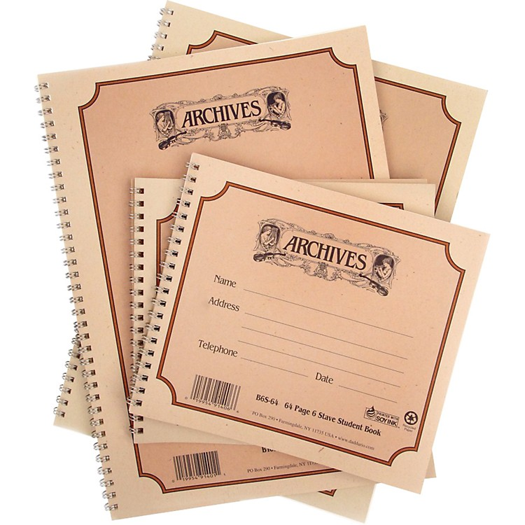 ArchivesSpiral Bound Manuscript Paper10 Staves, 96 Pages