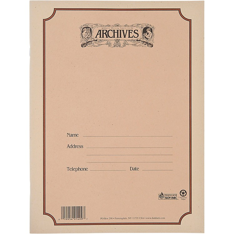 ArchivesSpiral Bound Manuscript Paper 10 Staves