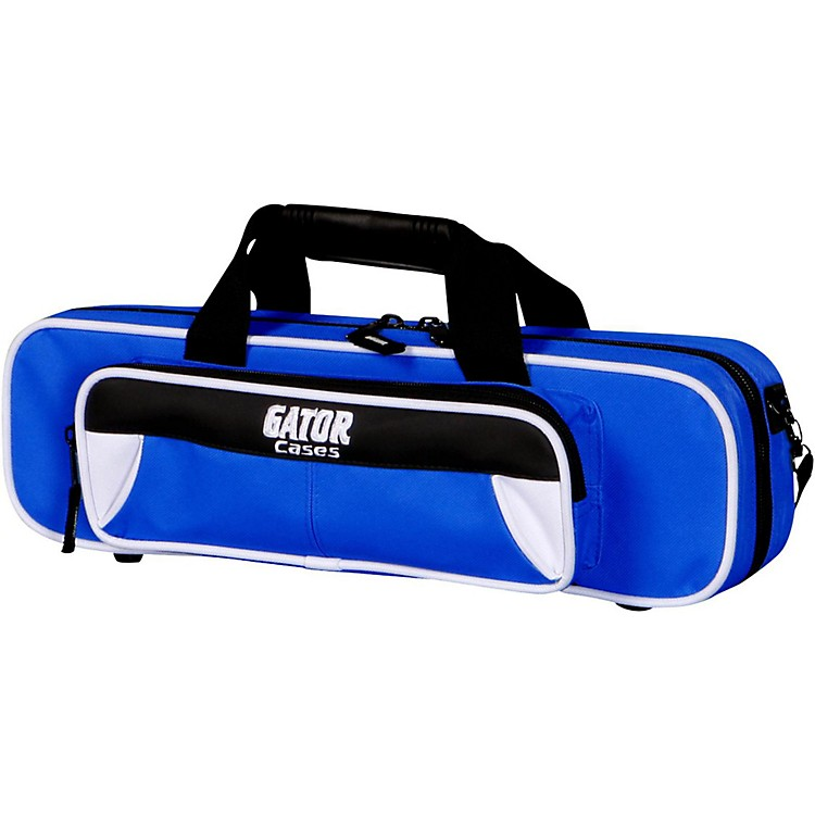 Gator Spirit Series Lightweight Flute Case White and Blue