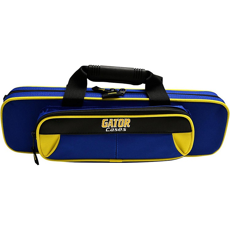 Gator Spirit Series Lightweight Flute Case Yellow and Blue