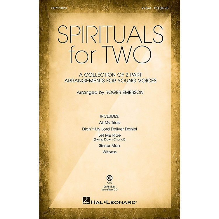 Hal LeonardSpirituals for Two 2-PART COLLECTION arranged by Roger Emerson
