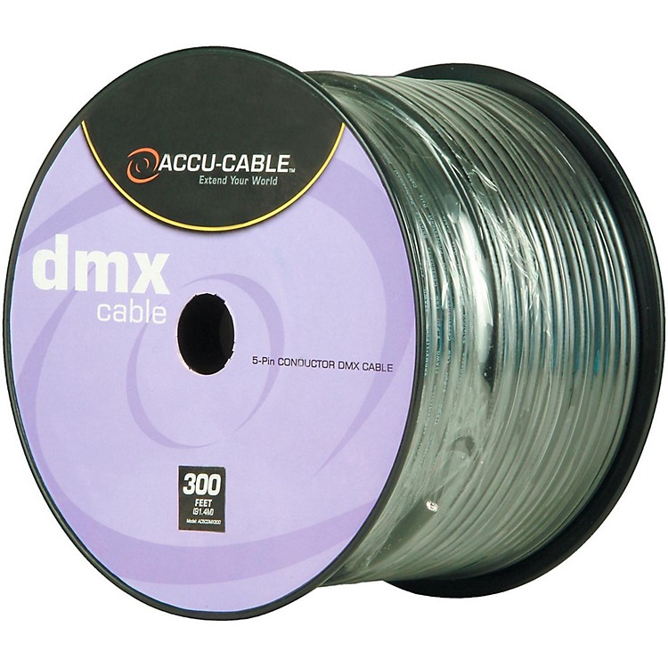 American DJ Spool 5-Pin DMX Cable 300 ft.