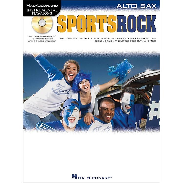 Hal LeonardSports Rock for Alto Sax - Instrumental Play-Along Book/CD Pkg