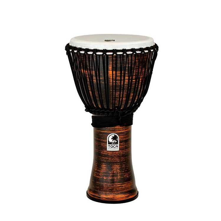 Toca Spun Copper Rope Tuned Djembe 12 in.