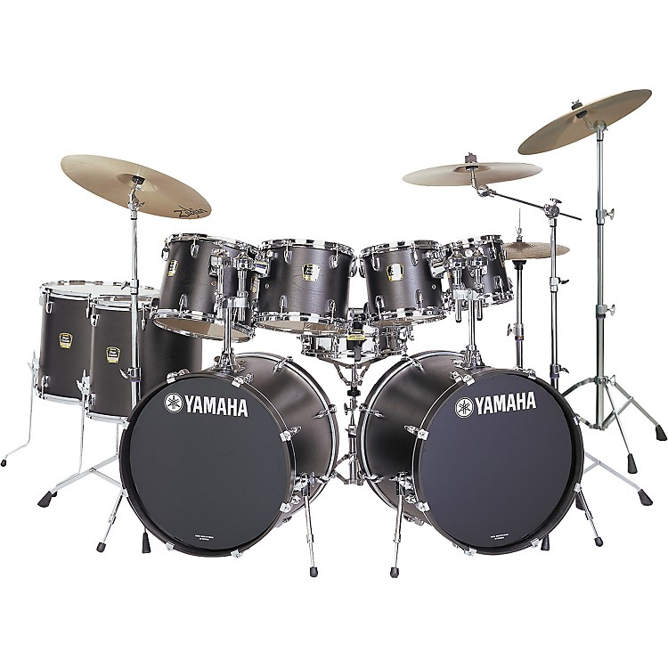 yamaha stage custom standard 9 piece double bass drum set music123. Black Bedroom Furniture Sets. Home Design Ideas