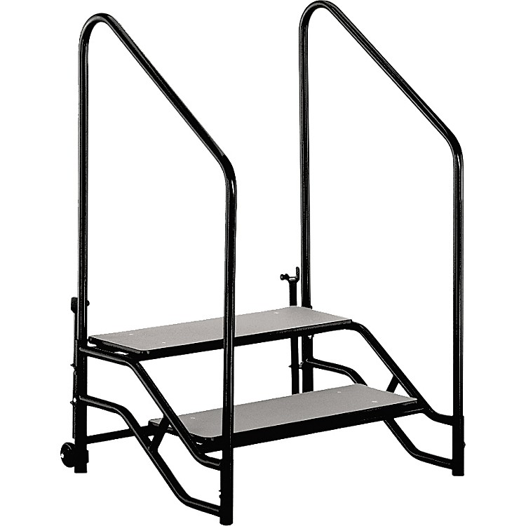Midwest Folding Products Stage & Seated Risers Steps For 16 in.-24 in. High, 2 Steps