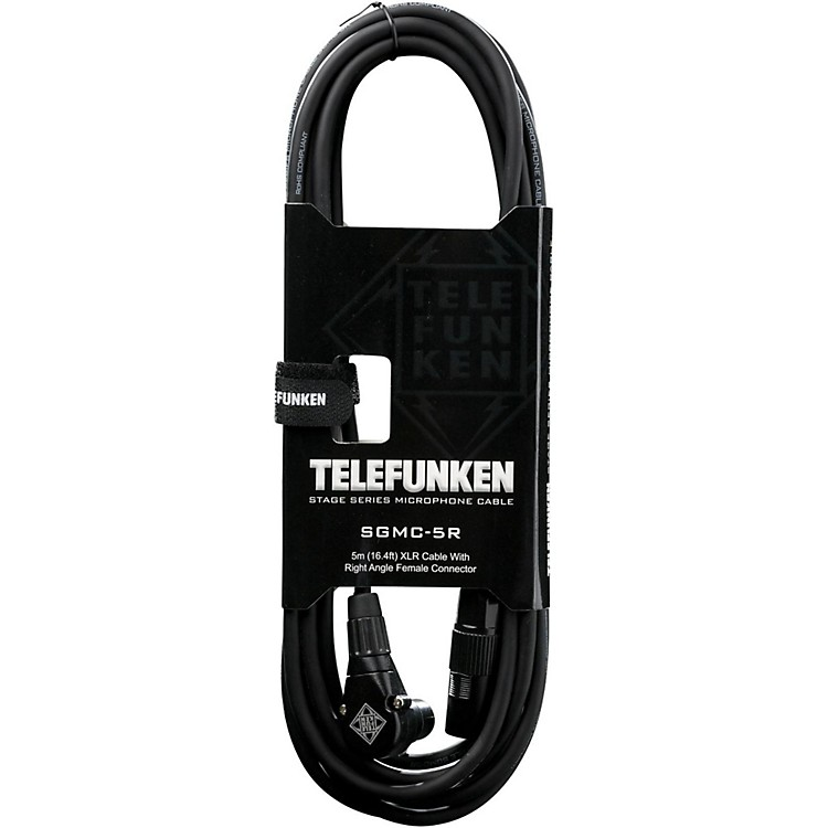 Telefunken Stage Series Right Angle XLR Mic Cable 5 m Black