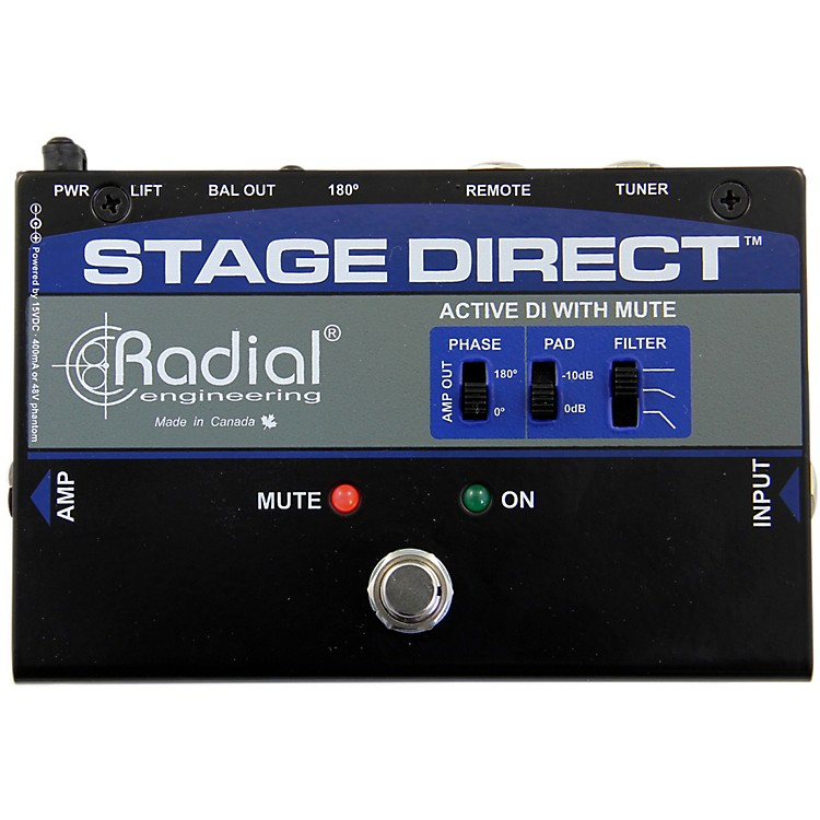 Radial EngineeringStageDirect Active DI Box w/ Footswitch Mute and Tuner Out