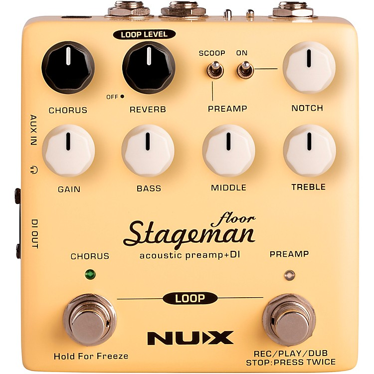 NUXStageman Floor Acoustic Preamp and DI