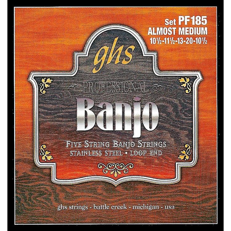 GHSStainless Steel 5-String Banjo Strings - Almost Medium