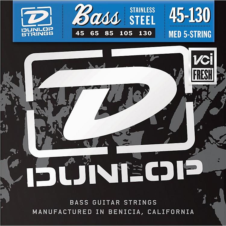 DunlopStainless Steel Bass Strings - Medium 5-String with 130
