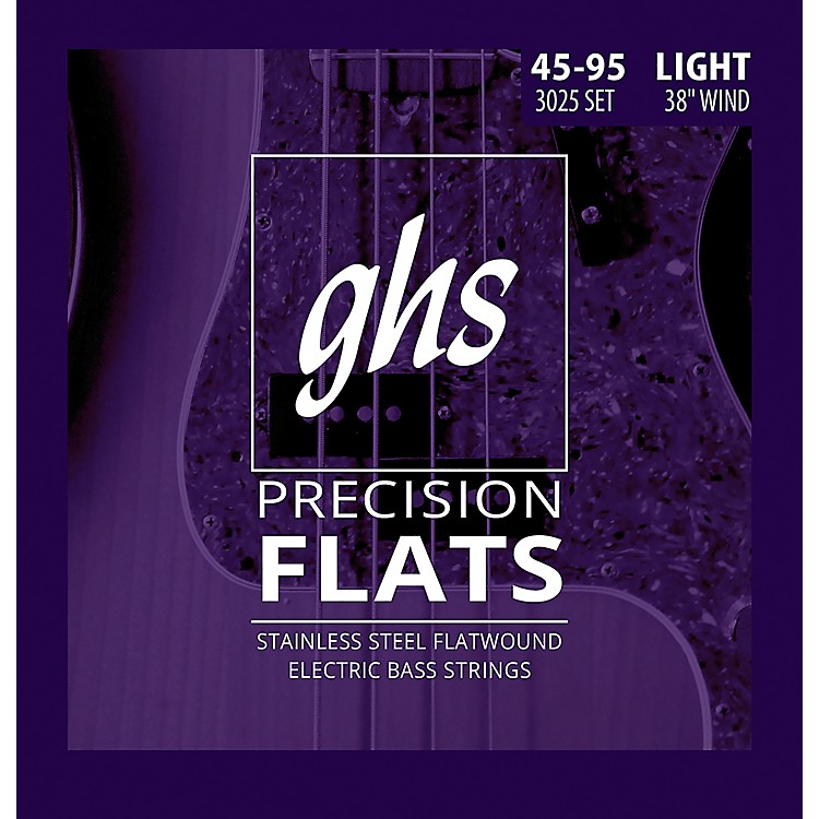 GHSStainless Steel Precision Flatwound Electric Bass Strings
