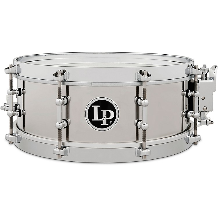 LP Stainless Steel Salsa Snare Drum 12 x 4.5 in. Stainless Steel