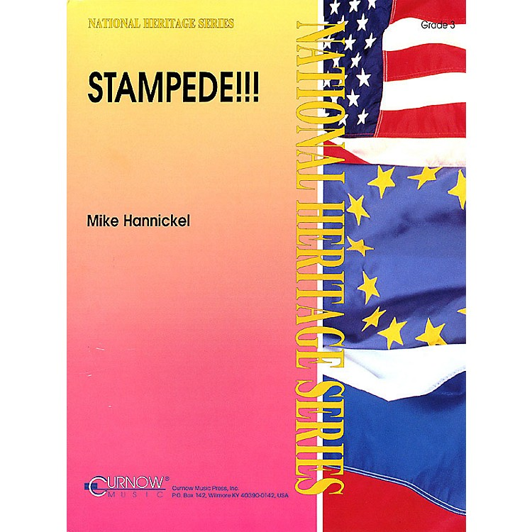Curnow MusicStampede!! (Grade 3 - Score Only) Concert Band Level 3 Composed by Mike Hannickel