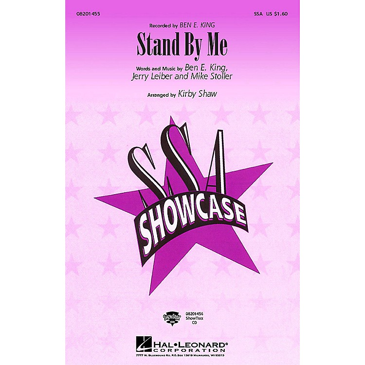 Hal LeonardStand by Me ShowTrax CD by Ben E. King Arranged by Kirby Shaw