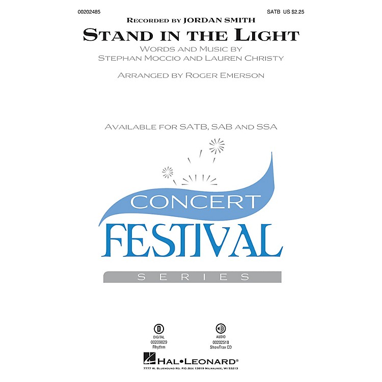 Hal LeonardStand in the Light SATB arranged by Roger Emerson