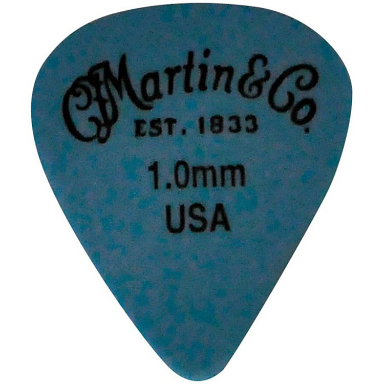 Martin Standard Delrin Guitar Pick Blue 1.00mm 72 Pieces