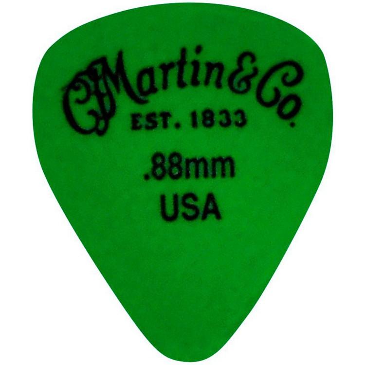 MartinStandard Delrin Guitar PickGreen 88mm72 Pieces