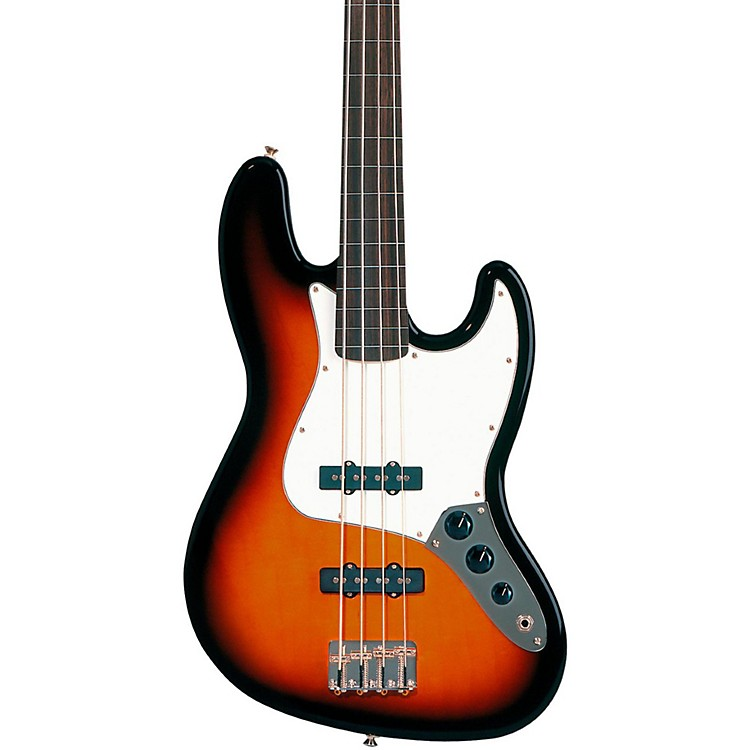 FenderStandard Fretless Jazz Bass GuitarBrown SunburstRosewood Fretboard