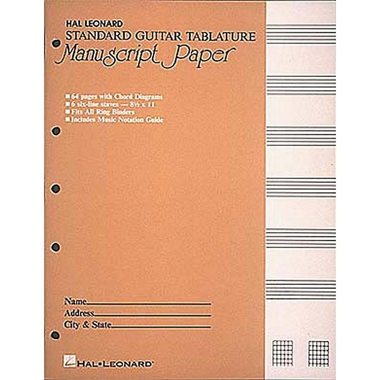 Hal LeonardStandard Guitar Tablature Manuscript Paper