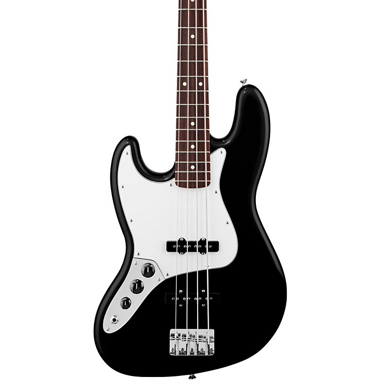 FenderStandard Left-Handed Jazz Bass Guitar with Rosewood FretboardBlackRosewood Fretboard