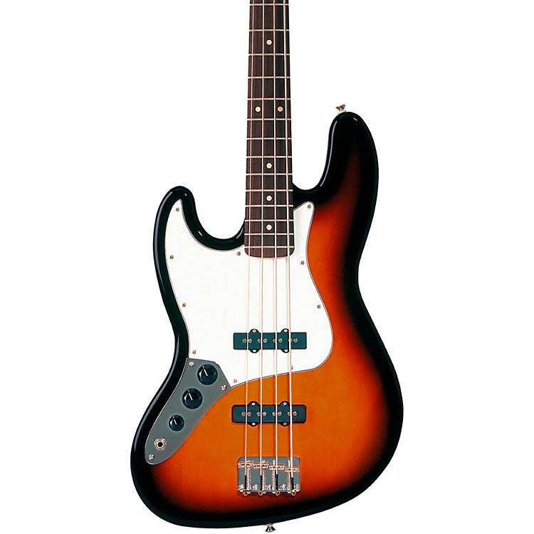 FenderStandard Left-Handed Jazz Bass Guitar with Rosewood FretboardBrown SunburstRosewood Fretboard