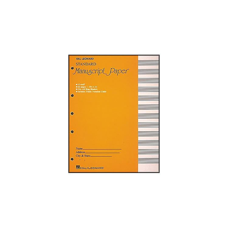 Hal LeonardStandard Manuscript Paper (8 1/2