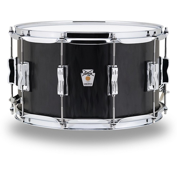 Ludwig Standard Maple Series Snare Drum 14 x 8 in. Black Flames