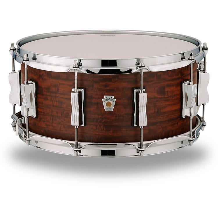LudwigStandard Maple Snare Drum with Aged Chestnut Veneer14 x 6.5 in.