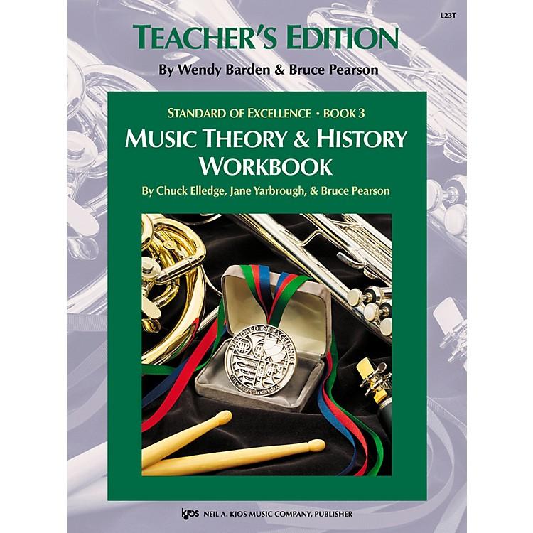 KJOSStandard Of Excellence BK3,MSC THRY/HISTORY WB-TEACHER