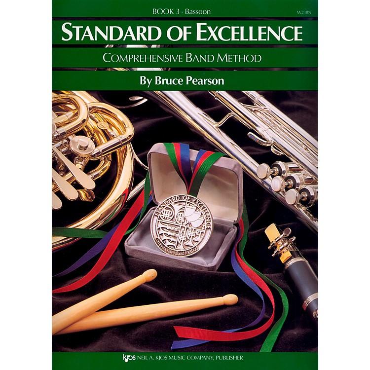 KJOSStandard Of Excellence Book 3 Bassoon