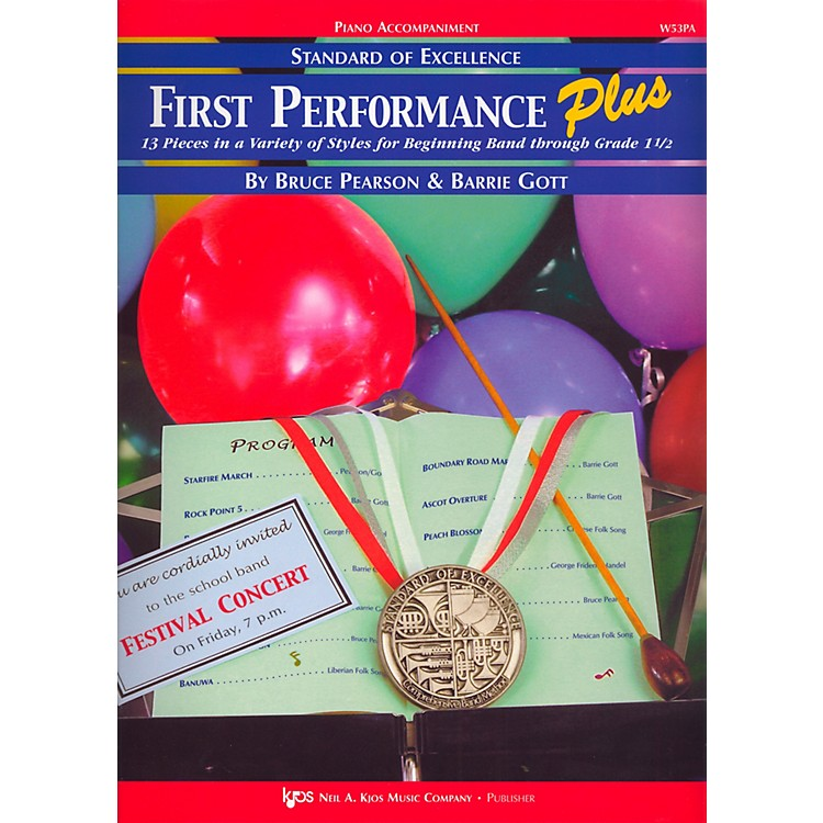 KJOS Standard Of Excellence First Performance Plus-PIANO ACCOMP