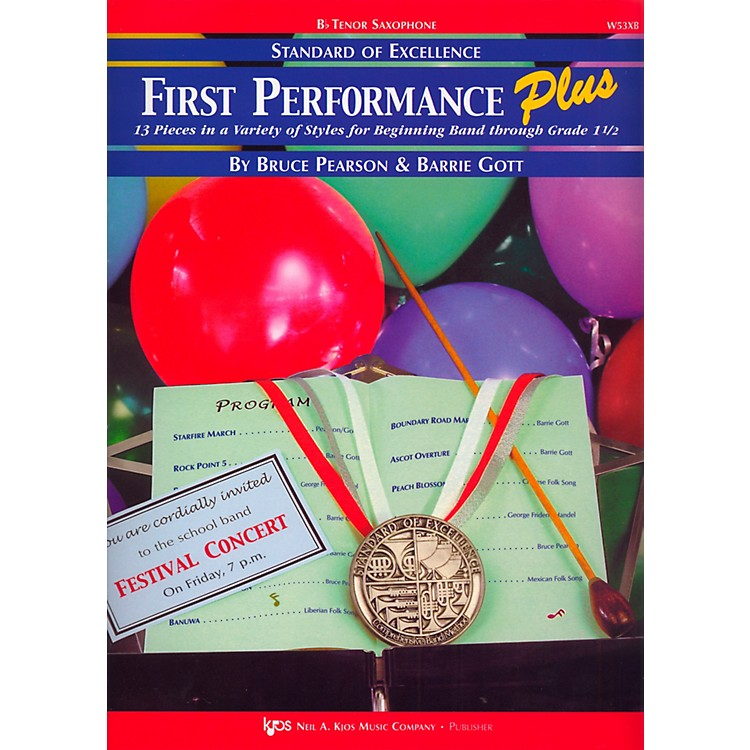 KJOSStandard Of Excellence First Performance Plus-TENOR SAX
