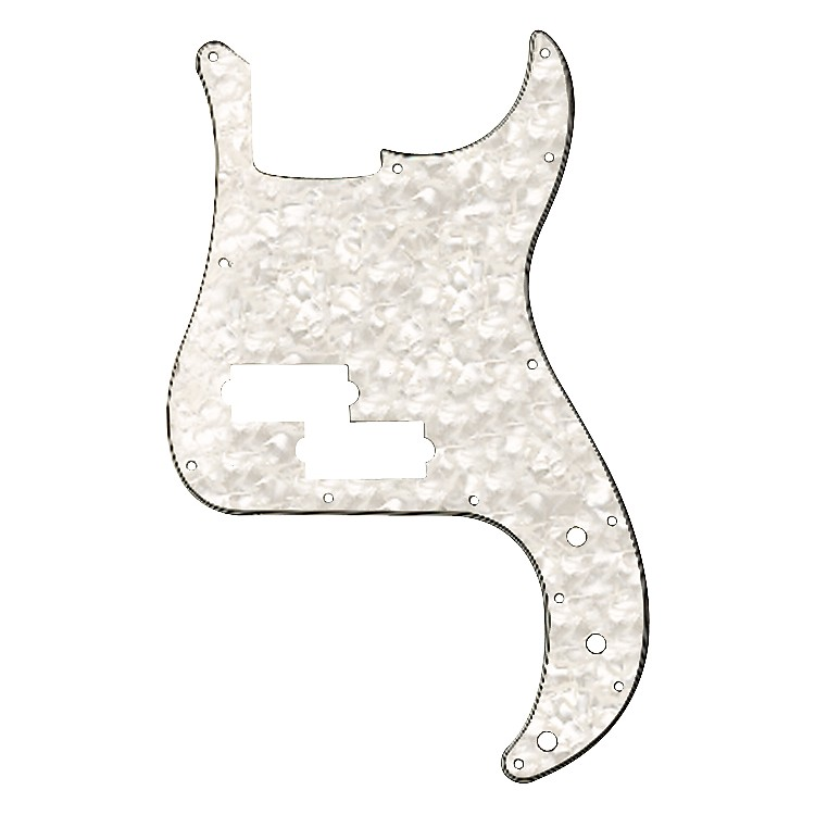Fender Standard Precision Bass 13-Hole Pickguard White Pearl