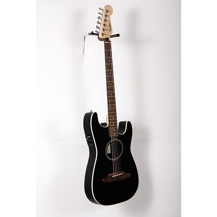 Fender Standard Stratacoustic Acoustic-Electric Guitar Black 888365894782
